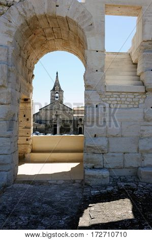 Detail Of The Amphithater At Arles On France