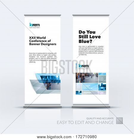 Abstract business vector set of modern roll Up Banner stand design template with many grey rectangles, stripes for exhibition, show, exposition, expo, presentation, parade, events.