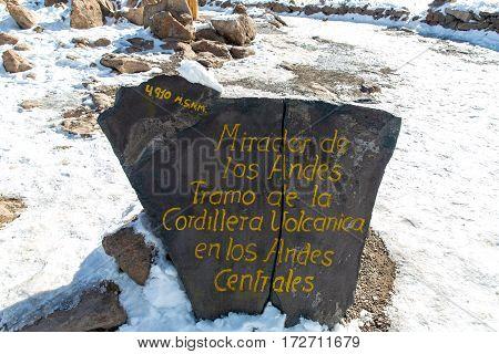 Volcano. The Andes Road Cusco- Puno PeruSouth America. 4910 m above. The longest continental mountain range in the world many active volcanoes. Sacred Valley of the Incas. Mirador de Los Andes Tramo de la Cordillera Vokcanica en Los Andes Centrales