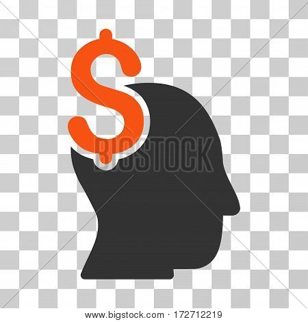 Commercial Intellect icon. Vector illustration style is flat iconic bicolor symbol orange and gray colors transparent background. Designed for web and software interfaces.