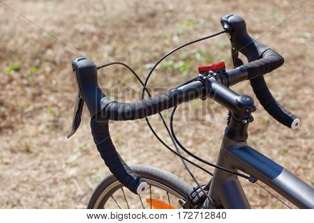 Wheel Racing, Mountain Bike Close-up In Nature. Cycling And Sport Lifestyle.