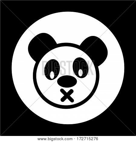 an images of Or pictogram Cute panda Icon