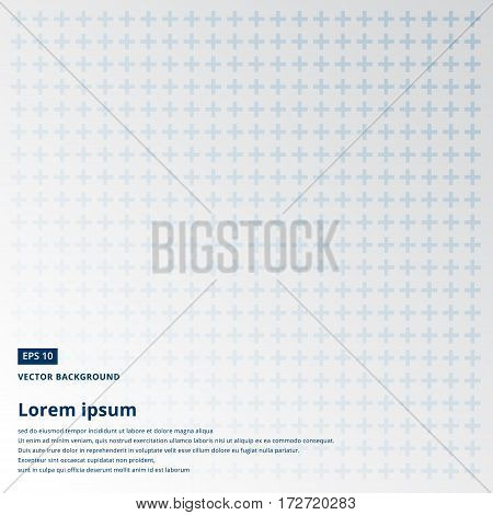 cross or plus navy blue sign icon seamless pattern vector copy space