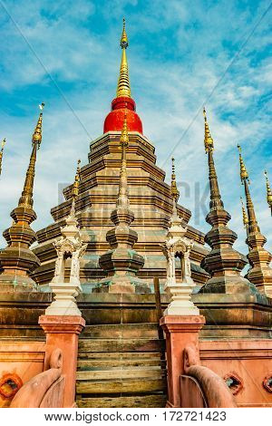 Buddhist temple Wat Phan Tao, Chiang Mai, Thailand