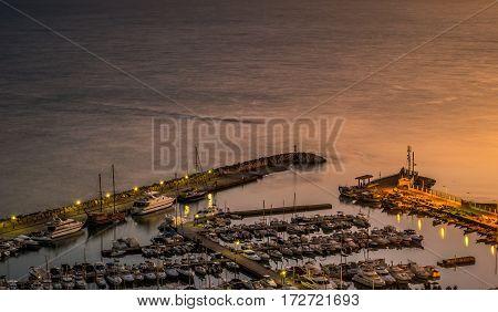 Port of Sidi Bou Said near Tunis, Tunisia.