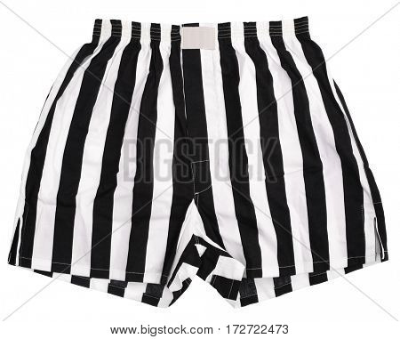 Black white striped boxer shorts underwear
