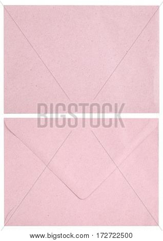 Pink vintage mail envelope mail both sides