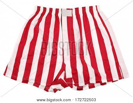 Red white striped boxer shorts underwear