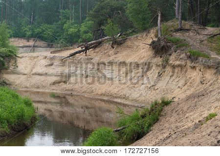 deeply eroded river in the eastern part of the netherlands