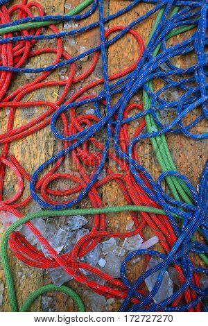 Wet climbing rope