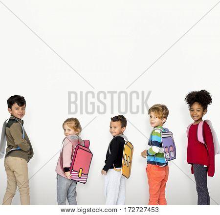 Children School Friends Illustration Concept