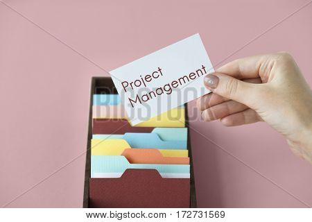 Project management organization word concept