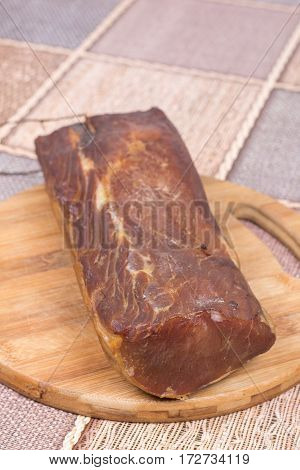 Whome Domestic Smoked Sirloin On The Wooden Board