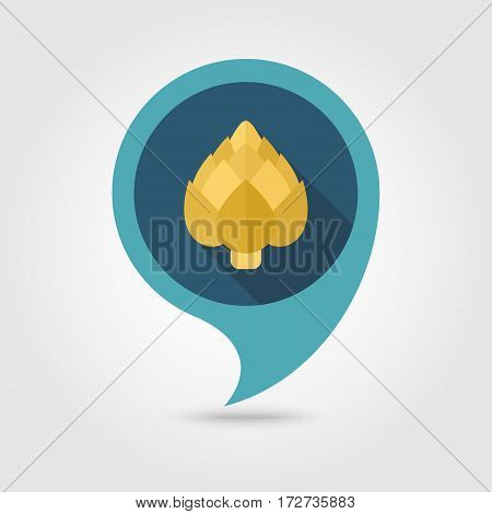 Artichoke flat vector pin map icon. Map pointer. Map markers. Vegetable vector illustration eps 10