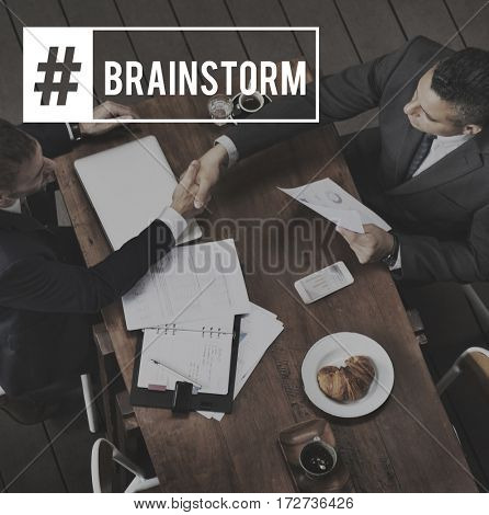 Meeting Business Colleagues Brainstorm Word