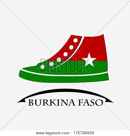 shoes icon made from the flag of Burkina Faso
