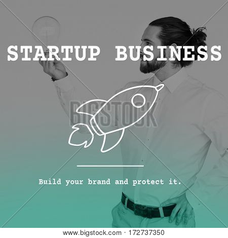 Start Up Business Rocket Icon