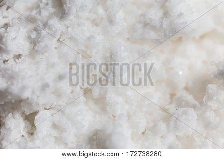Close Up Of Rock Salt Traditional Salt Making Of Nan Province,thailand. Selective Focus.