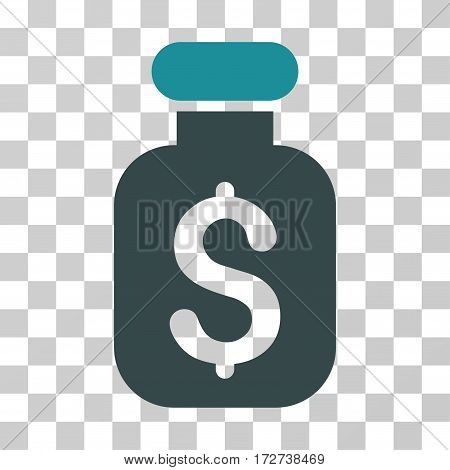 Business Remedy icon. Vector illustration style is flat iconic bicolor symbol soft blue colors transparent background. Designed for web and software interfaces.
