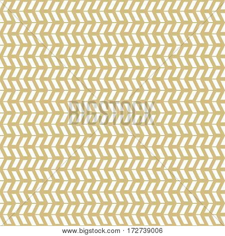 Geometric vector pattern with white arrows. Geometric modern ornament. Seamless abstract background