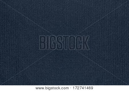 abstract texture and background of textile material or fabric of dark blue color