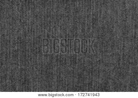 abstract texture and background of textile material or fabric of black color