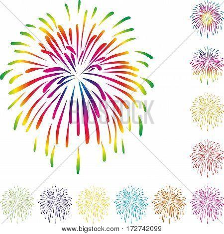 Fireworks, explosion, colored, festivals and fireworks illustration