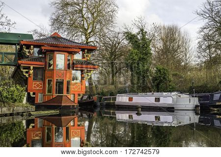 Chinese Restaurant In A Boat