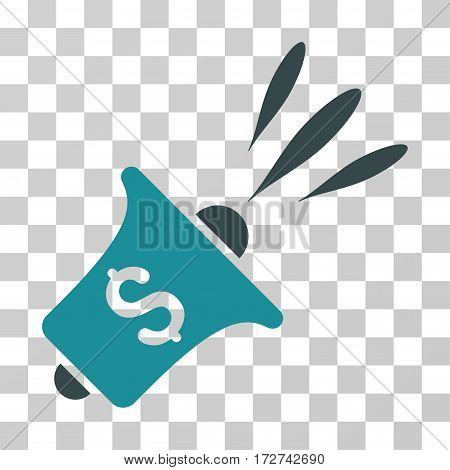 Financial News Rupor icon. Vector illustration style is flat iconic bicolor symbol, soft blue colors, transparent background. Designed for web and software interfaces.