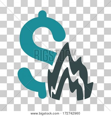 Fire Disaster icon. Vector illustration style is flat iconic bicolor symbol, soft blue colors, transparent background. Designed for web and software interfaces.