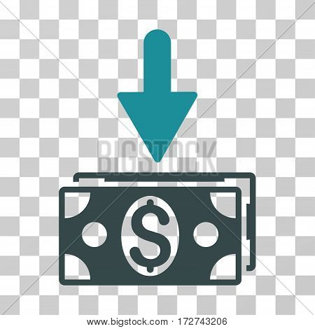 Get Dollar Banknotes icon. Vector illustration style is flat iconic bicolor symbol, soft blue colors, transparent background. Designed for web and software interfaces.
