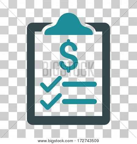 Invoice Pad icon. Vector illustration style is flat iconic bicolor symbol, soft blue colors, transparent background. Designed for web and software interfaces.