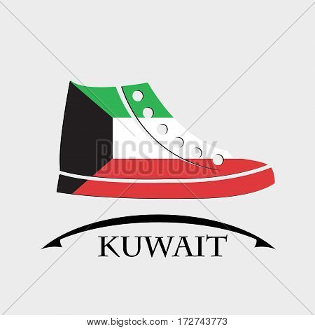 shoes icon made from the flag of Kuwait