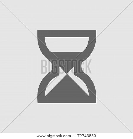 Sand clock vector icon.Isolated vector illustration EPS 10.