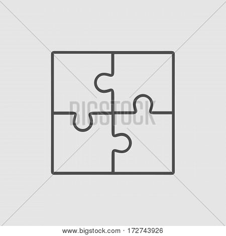 Puzzle vector icon eps 10. Creative group symbol. Cooperation.
