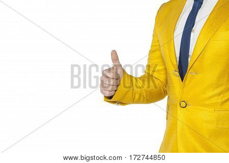 Businessman In A Gold Suit Recommended Something