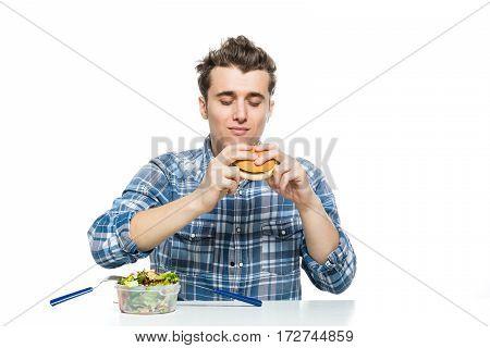 Fast Food Versus Salad Concept
