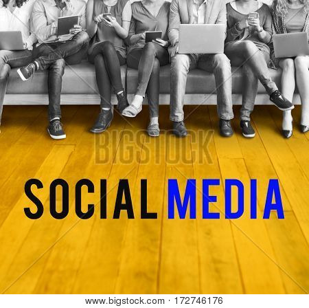 Social Media Network Internet Platform Word