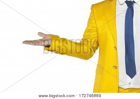 Copy Space Above The Hand Businessman