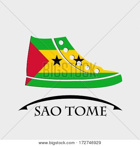shoes icon made from the flag of Sao Tome