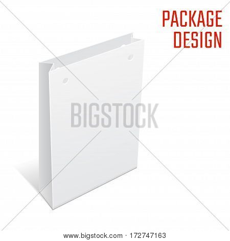 Vector Illustration of Shopping Bag template for Design, Website, Background, Banner. Folding package gift. Fold pack with die line for your brand on it
