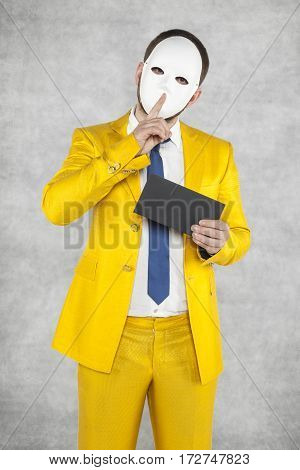 Businessman In A Gold Suit, Asks For Secrecy
