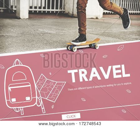 Travel Trip Journey Backpack Concept