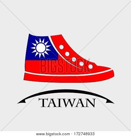shoes icon made from the flag of Taiwan