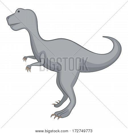 Aallosaurus icon. Cartoon illustration of allosaurus vector icon for web