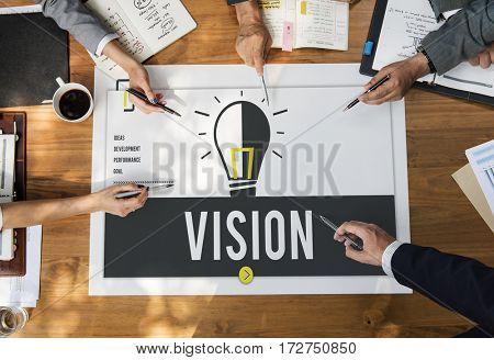 Ideas Development Vision Business Concept