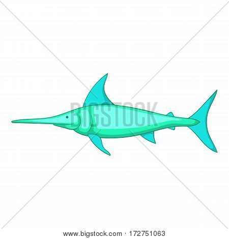 Swordfish icon. Cartoon illustration of swordfish vector icon for web
