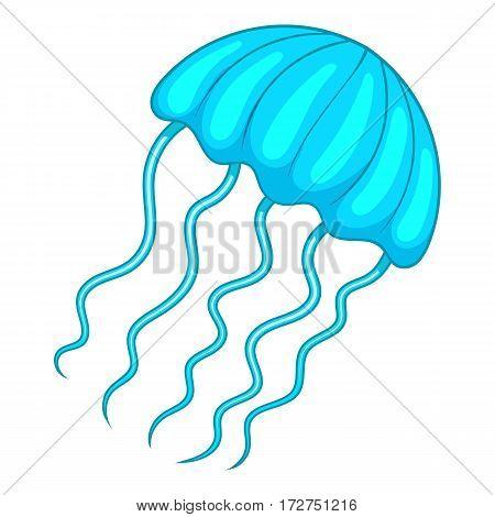 Jellyfish icon. Cartoon illustration of jellyfish vector icon for web