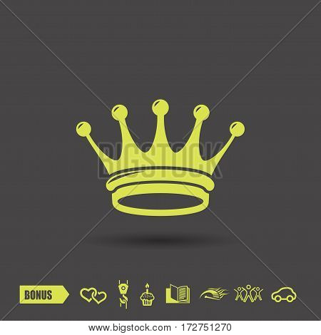Pictograph of crown. Vector concept illustration for design. Eps 10