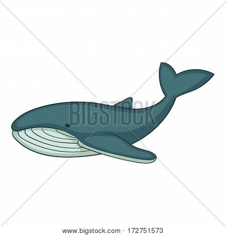 Whale icon. Cartoon illustration of whale vector icon for web